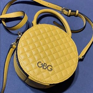 G by Guess yellow round crossbody